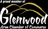 A proud member of the Glenwood Area Chamber of Commerce